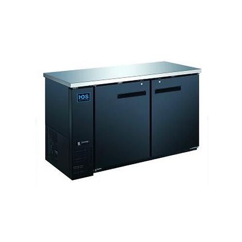 HDS | Back Bar Cooler Solid Door - 2 Door, 15.8 Cu. Ft.
