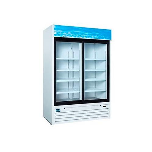 HDS | Merchandising Slide Glass Door Refrigerator - 2 Door, 45 Cu. Ft. WHITE