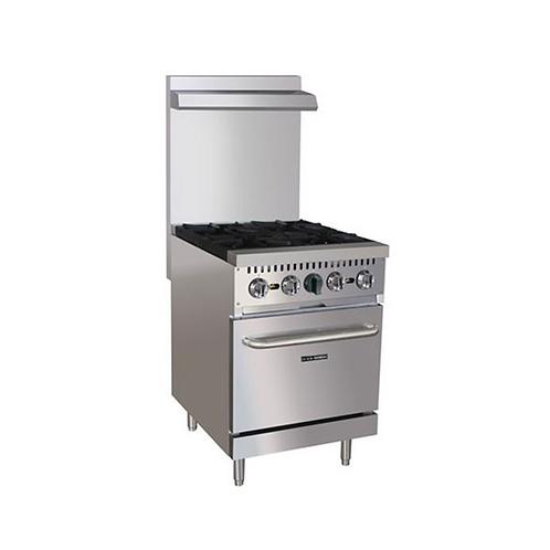 AdCraft | Black Diamond 4 Burner Gas Range w/Oven | BDGR-24/NG