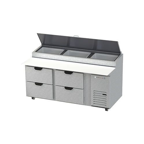 Beverage-Air | DPD72HC-4 Food Prep Table with Four Drawers
