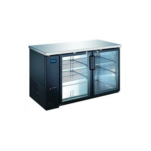 HDS | Back Bar Cooler Glass Door - 2 Door, 15.8 Cu. Ft.