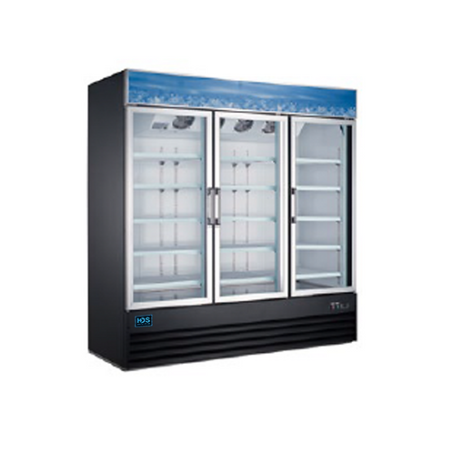 HDS | Merchandising Swing Glass Door Freezer - 3 Door, 52 Cu. Ft.
