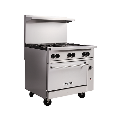 "Vulcan | ENDURANCE™ SERIES STAINLESS STEEL 36"" PROFESSIONAL GAS RANGE