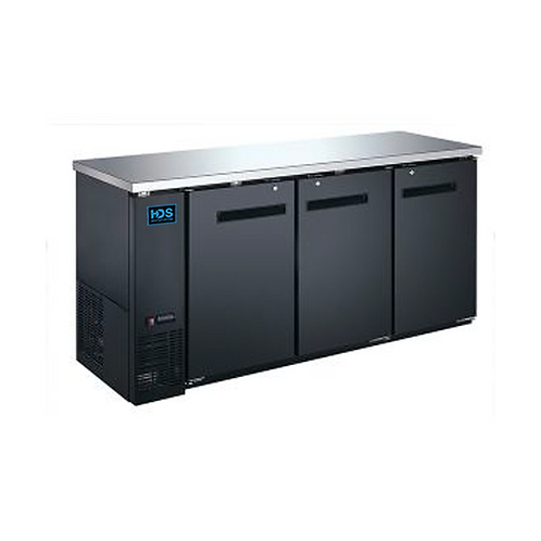 HDS | Back Bar Cooler Solid Door - 3 Door, 19.6 Cu. Ft.