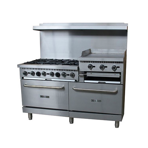 "AdCraft | Black Diamond Gas Range/Griddle Combo -60"" Wide 
