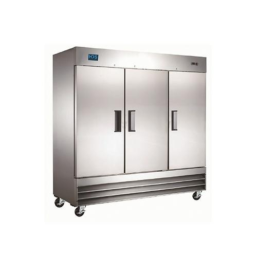 HDS | Reach-in Solid Door Freezer - 3 Door, 72 Cu. Ft.