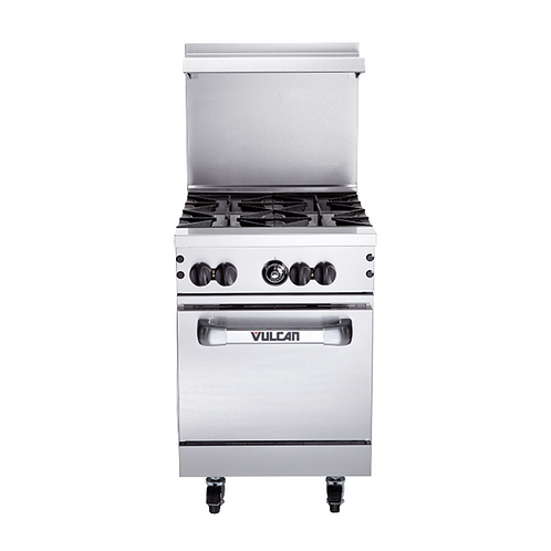 "Vulcan | 24"" WIDE STAINLESS GAS RANGE OVEN WITH 4 BURNERS"