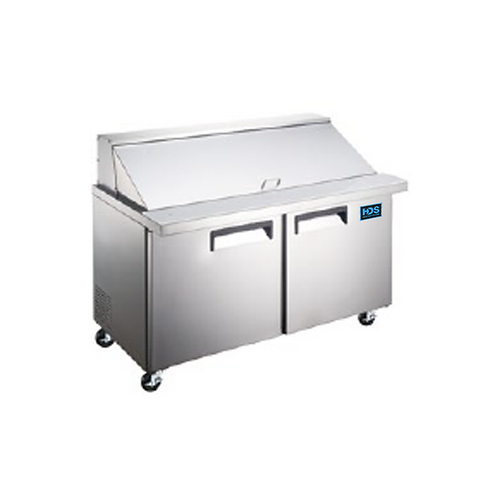 HDS | Sandwich/Salad Prep Table - 2 Door, 15 Cu. Ft.