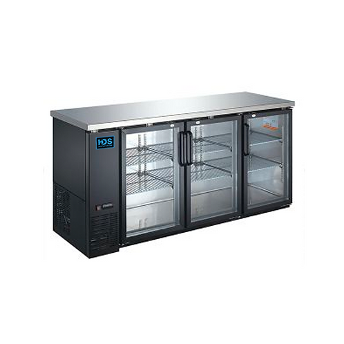 HDS | Back Bar Cooler Glass Door - 3 Door, 19.6 Cu. Ft.