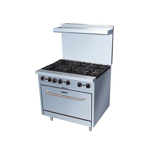 AdCraft | Black Diamond 6 Burner Gas Range w/Oven | BDGR-36/NG