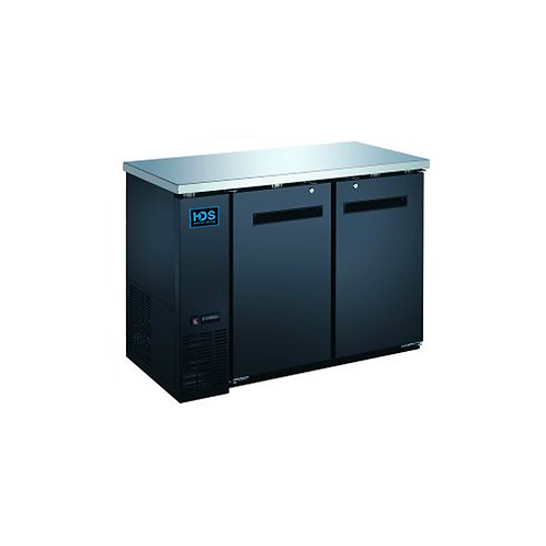 HDS | Back Bar Cooler Solid Door - 2 Door, 11.8 Cu. Ft.