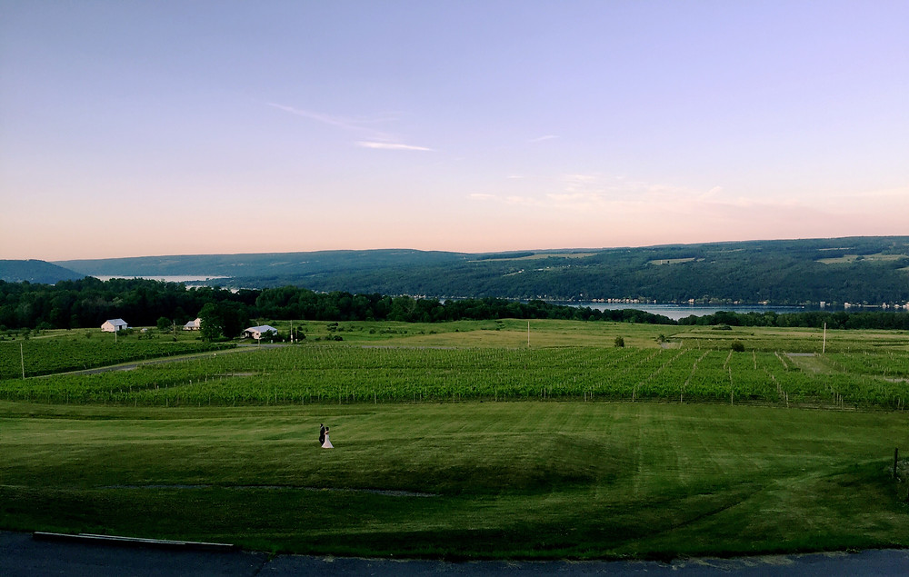 sunset over Keuka Lake
