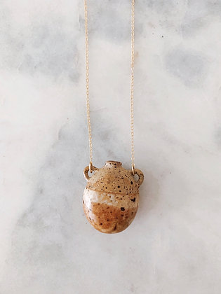 Water Bearer Necklace // Rust Ombre
