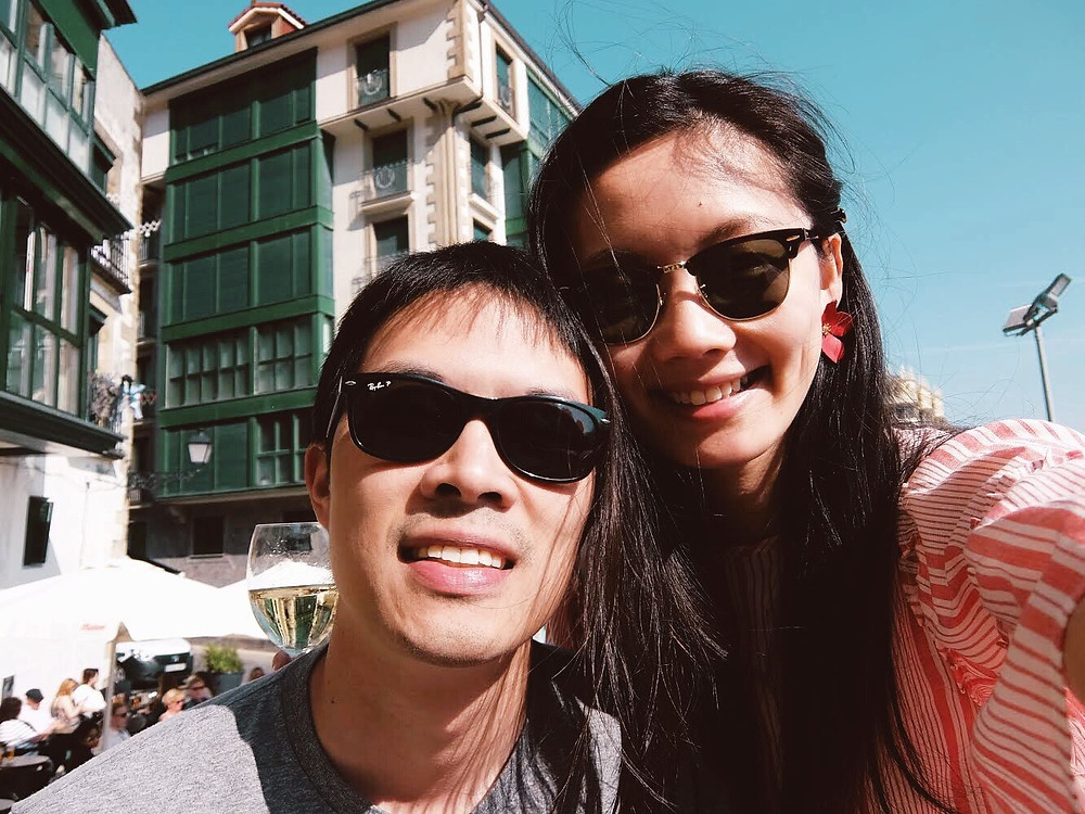 Kevin & me in San Sebastian