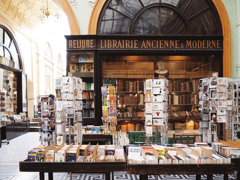 Bookstore in Galerie Vivienne