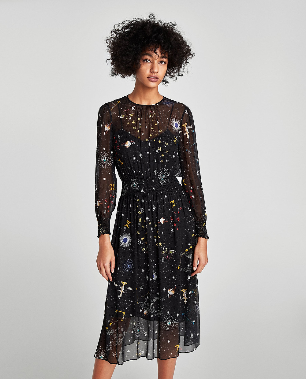 Zara Printed Midi Dress $90