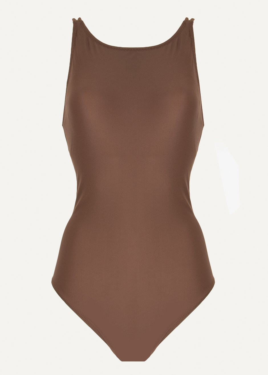 Frankie Shop Chestnut One Piece Swimsuit $95