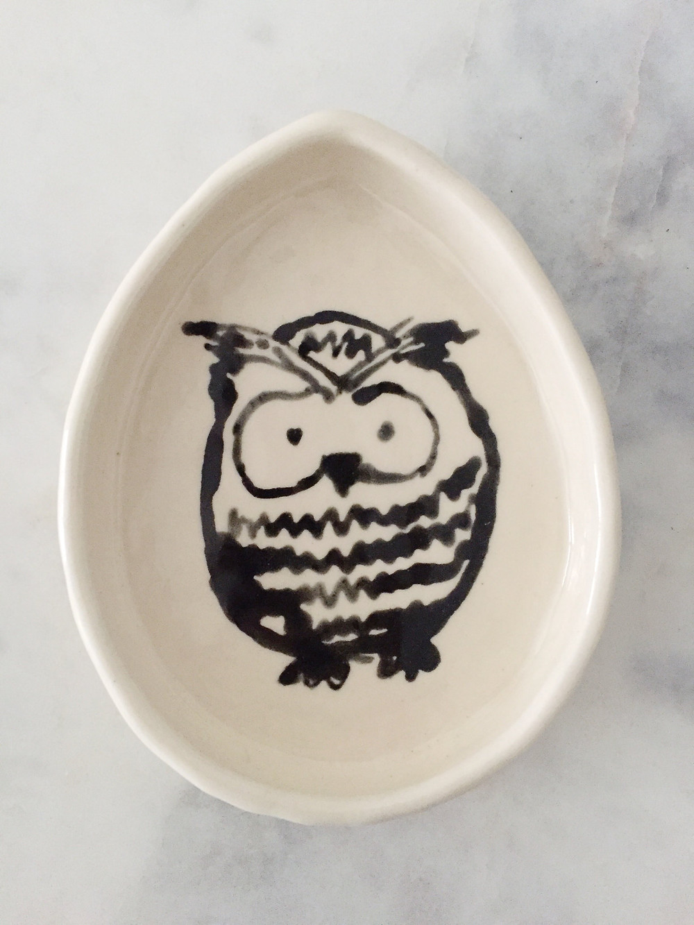 owl dish from the Bamboo Brush collection