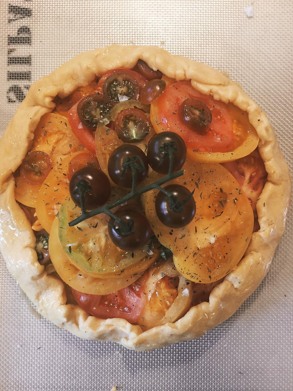 savory tomato crostata