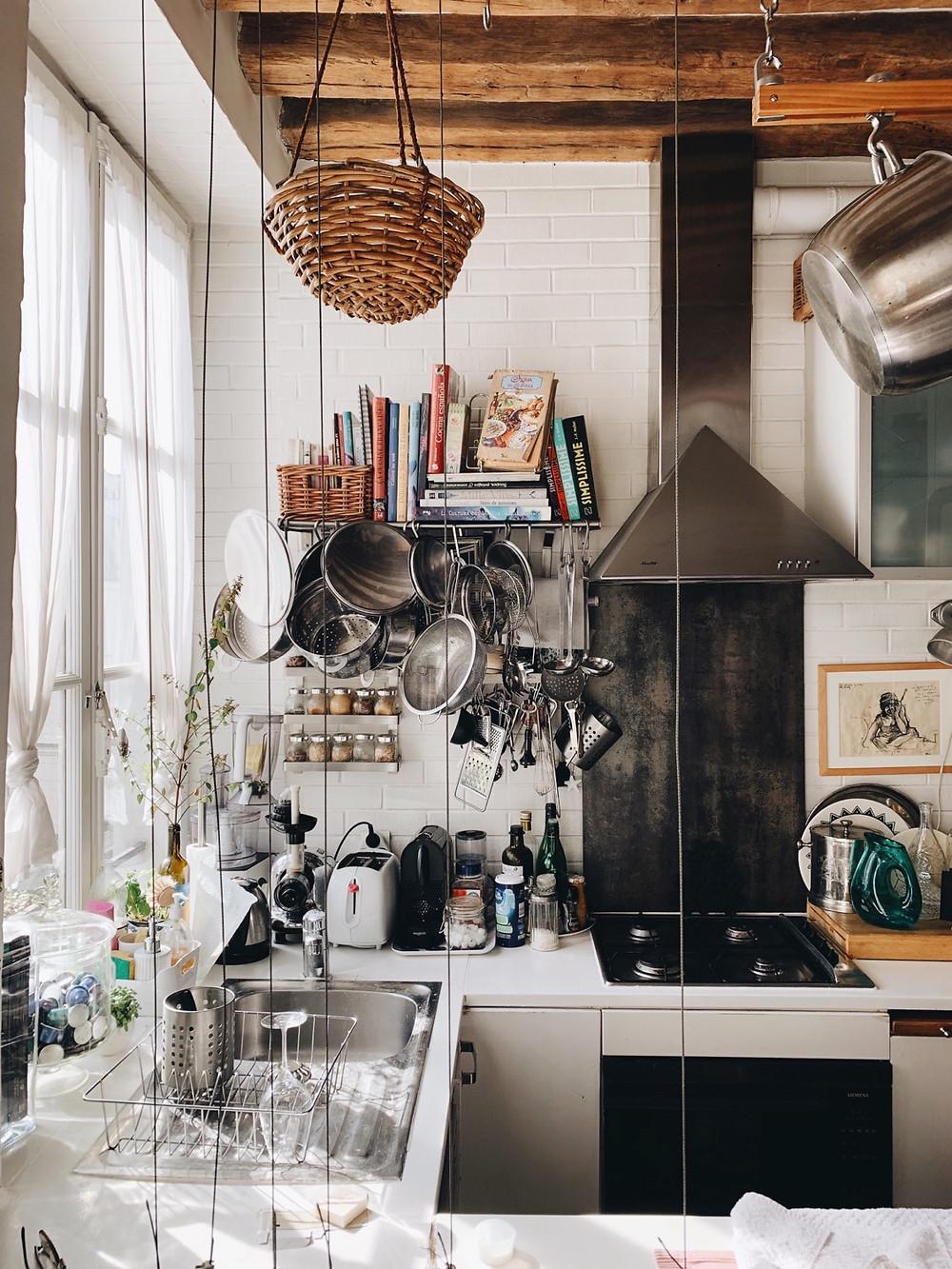 Tiny Parisian kitchen