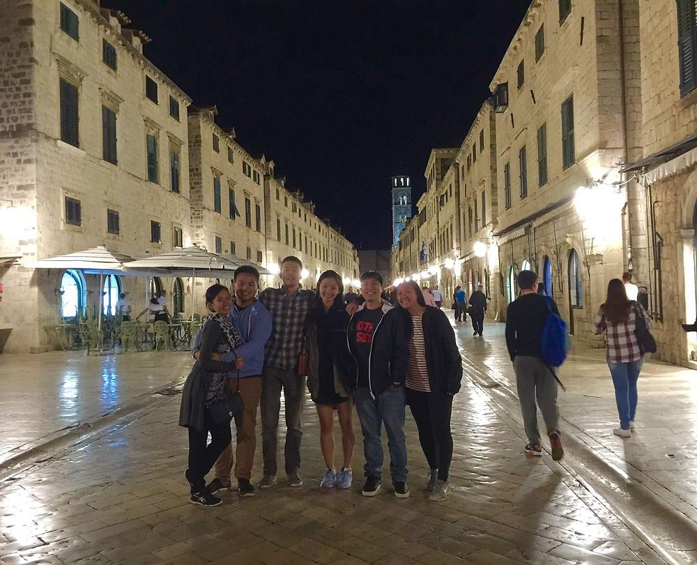 Friends in Dubrovnik