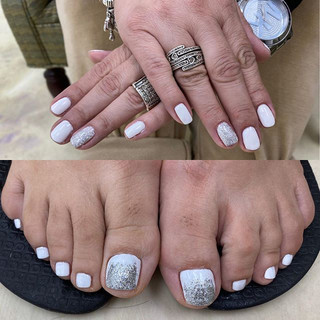 Matching manicure and pedicure $30 for b