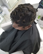 Finger waves with the c-curls!!!! Look a