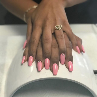Pink nails for Breast Cancer Awareness M