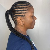 Knotless braids leaves a clean start to