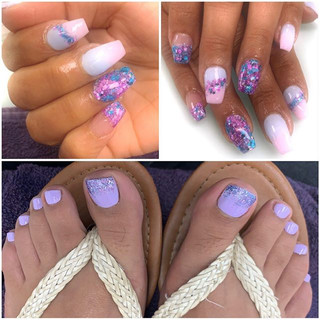 Matching hands & toes!!! When your clien