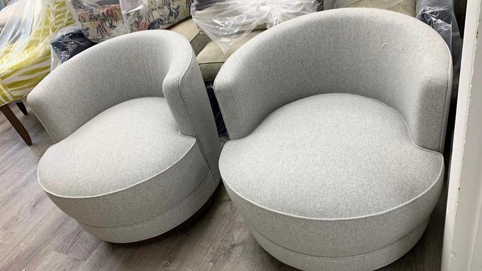 Vintage Edward Wormley Swivel Chairs