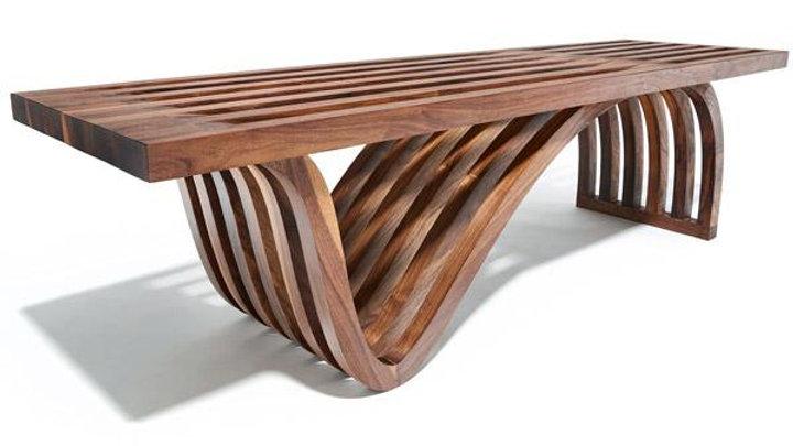 OTTRA Assymetric Walnut Bench