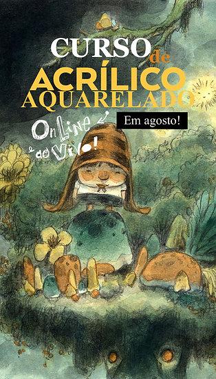 Curso de Acrílico Aquarelado