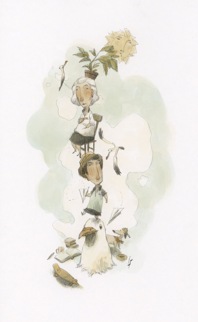 Torre com pedestal de gaivota