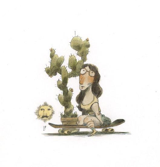 As rosas tem espinhos. Os cactos têm florzinhas.