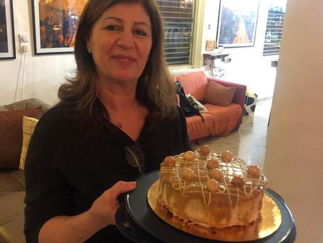 עוגת ריבת חלב ושוקולד לבן עוגת היום הולדת הנפלאה של מרים גבאי