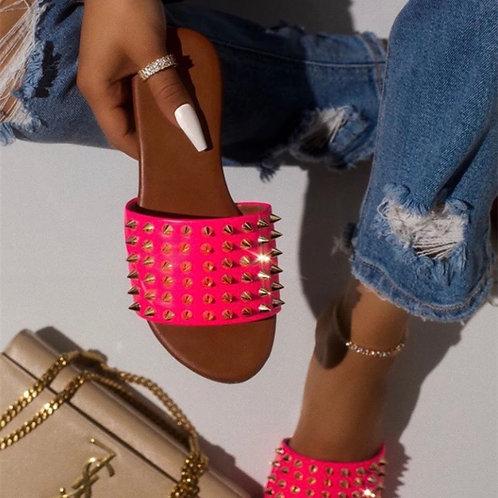 Pink spike slides