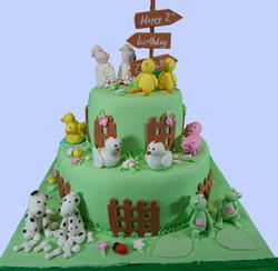Animal farm cake