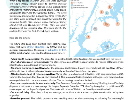 News Alert: State Approves Flawed Plans for NYC Sewer Overflows