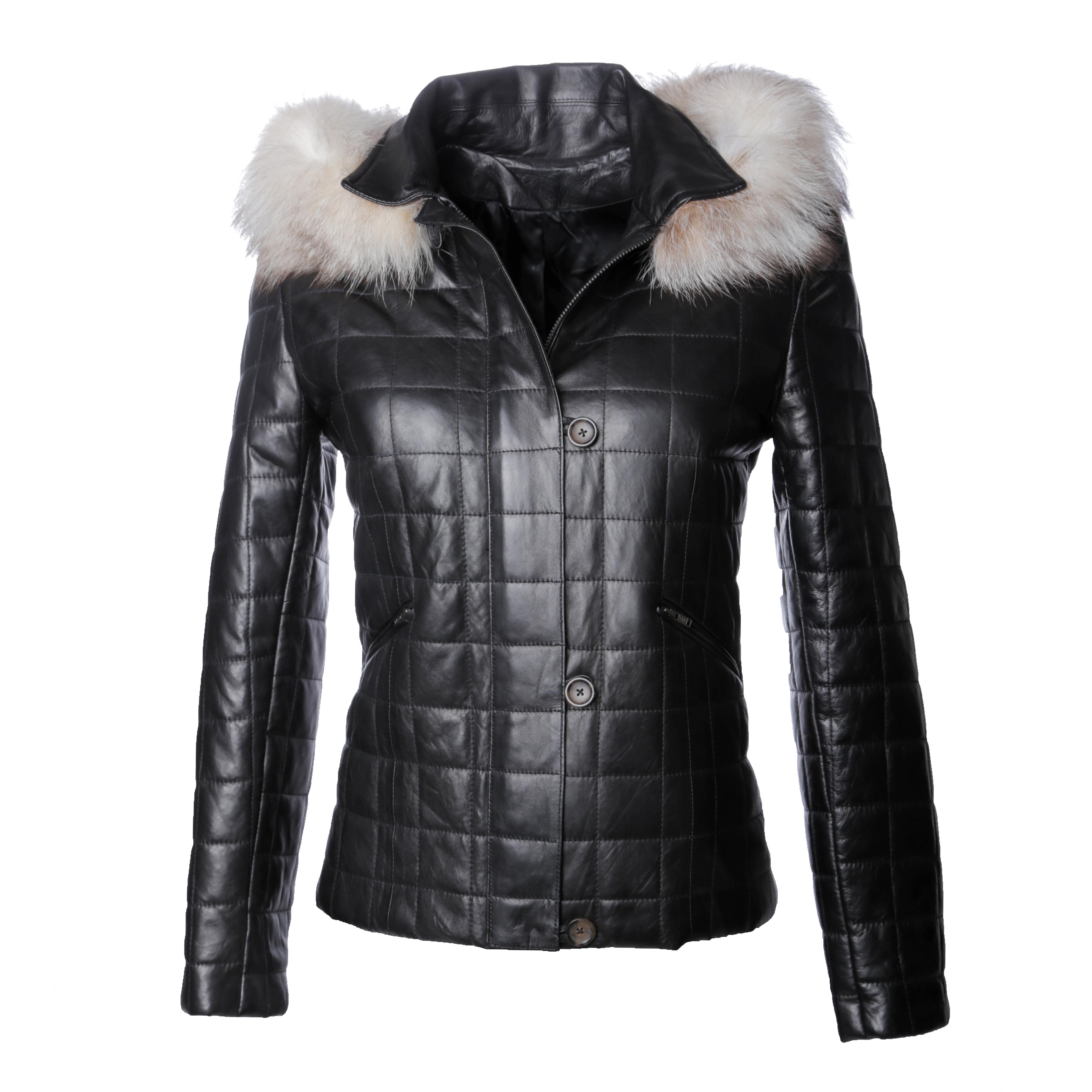 Stella cuir noir et fourrure - 389€
