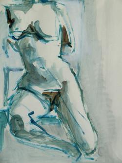 Buste féminin bleu