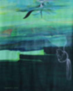 partition d'eau, 92x73 cm, technique mixte
