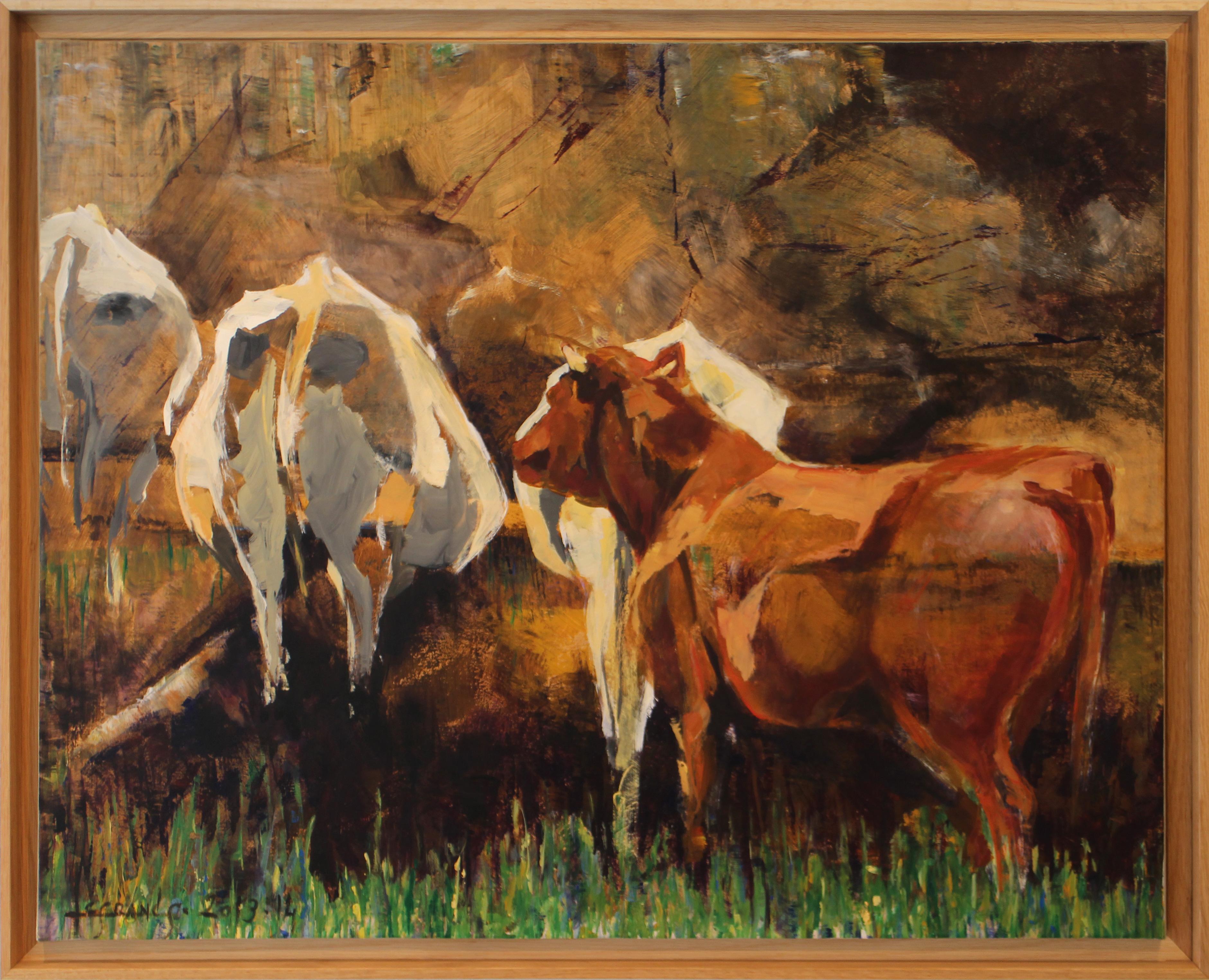 Dans la fange - les vaches