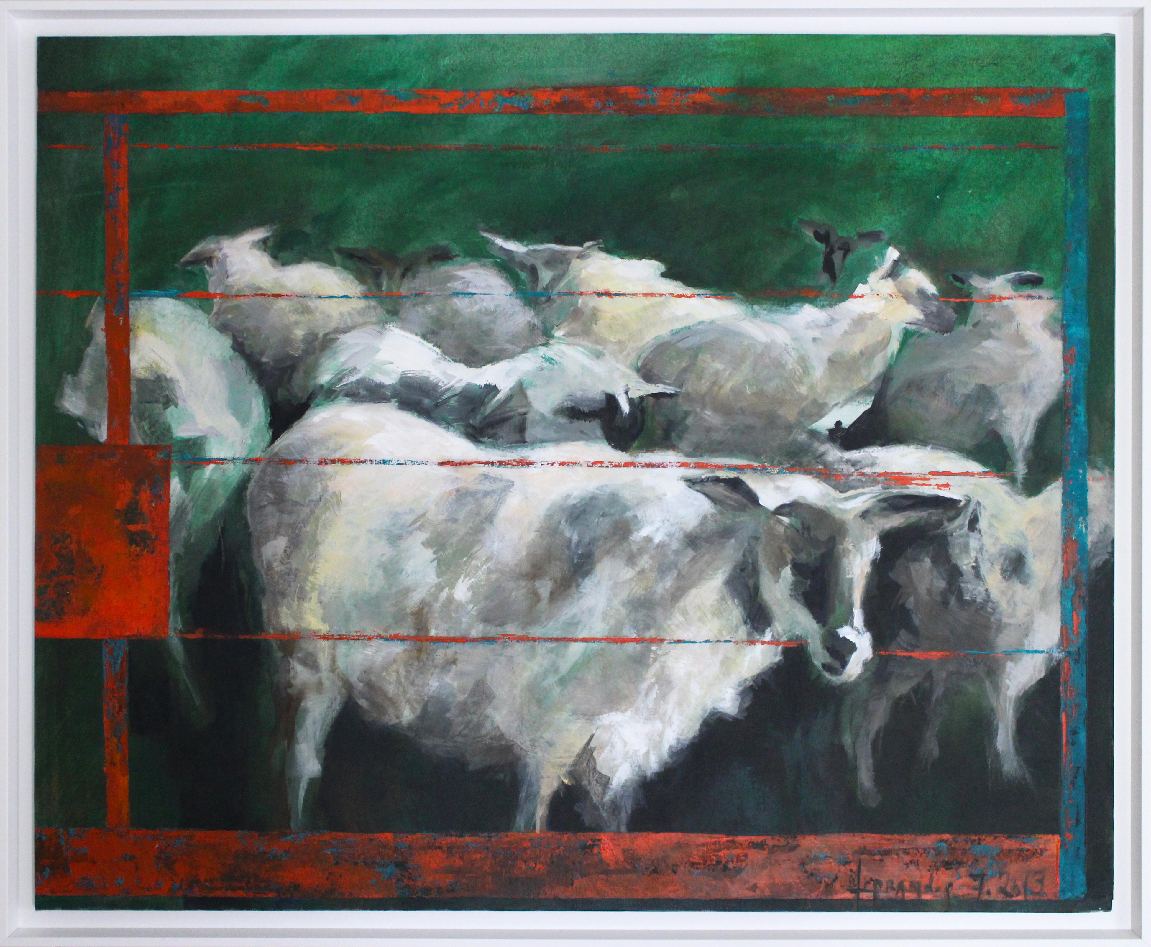 L'enclos rouge - les moutons