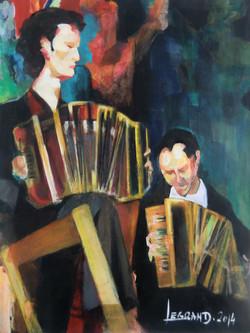 Au cabaret, les accordéonistes