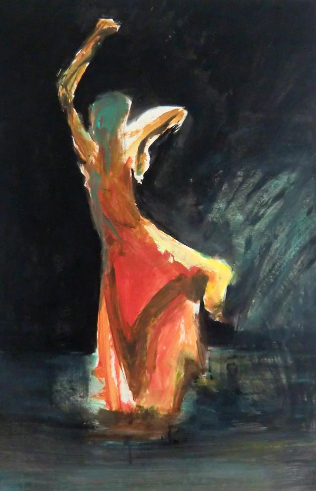 Entre ombre et lumière, la danseuse