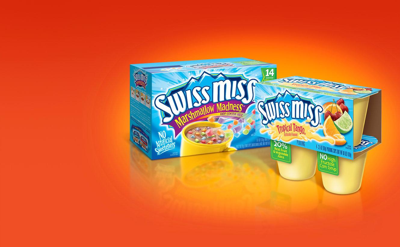 Swiss Miss packaging design