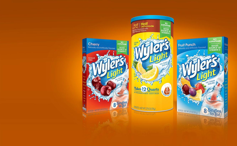 Wyler's Light packaging design