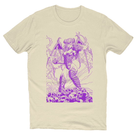 Beautiful Nightmare Artwork T-Shirt Creme