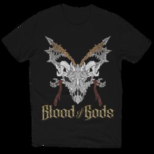 Skull, Axes, & Gold Title T-Shirt Black